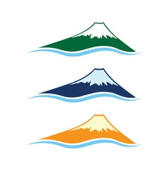 Set of high mountains vector