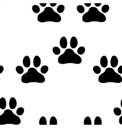 Seamless paw zoo pattern for pet vector