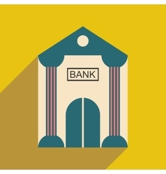 Modern flat icon with shadow bank building vector