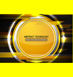 Abstract circle gold background vector