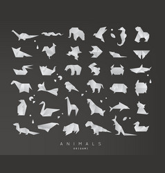 animals origami set vector image vector image