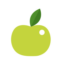 apple in green colors vector image