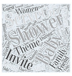 Baby showers word cloud concept vector