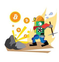 Bitcoin green powerful vector
