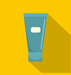 Blue cosmetic tube of cream or gel icon flat style vector