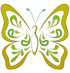 butterfly pictogram vector image vector image