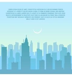 City skyline urban cityscape vector