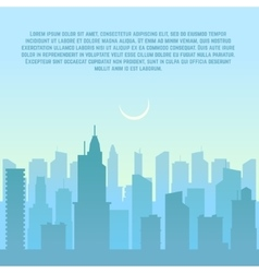 City skyline urban cityscape vector image