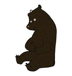 Comic cartoon happy black bear vector