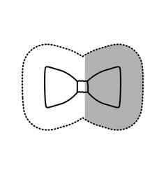contour sticker bow tie icon vector image vector image