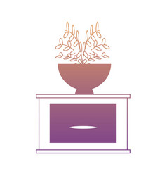 drawer with decorative plant icon vector image