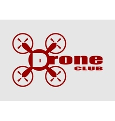 Drone icon drone club text vector