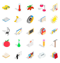 Era icons set isometric style vector
