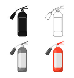 fire extinguisher icon cartoon single silhouette vector image vector image