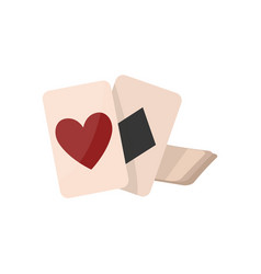 Fortune telling cards isolated icon vector