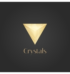 gold logo vector image