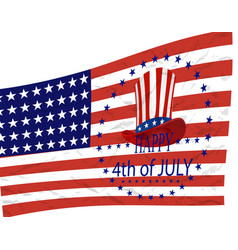 independence day american symbols on the vector image vector image