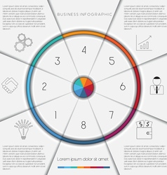Infographic template on 8 positions vector image vector image