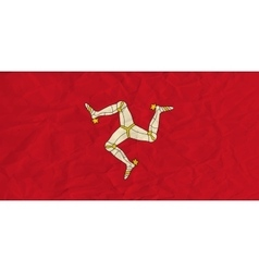 Isle of mann paper flag vector