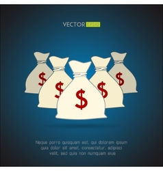 Money bags with dollar sign background vector image