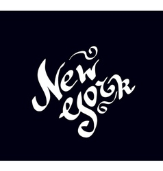 New york hand drawn bright text vector