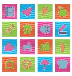 polka dot icons vector image vector image