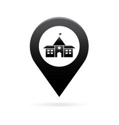 School map pointer icon marker gps location flag vector