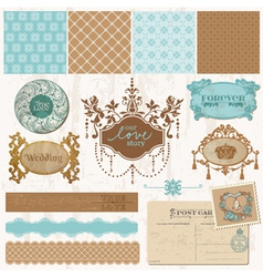 scrap vintage tiles 6 vector image