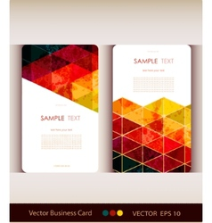 Set of abstract geometric business card vector image