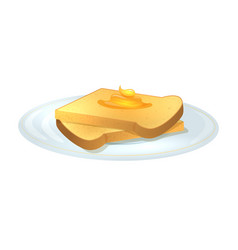 toasts with honey vector image vector image