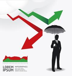 Businessman in Umbrella creative Finance safe idea vector image