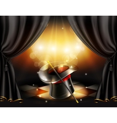 Magic tricks background vector image