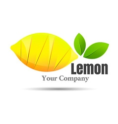 Half of lemon icon isolated object healthy food vector