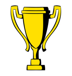 Golden trophy cup icon icon cartoon vector