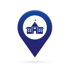 School map pointer icon marker gps location flag vector