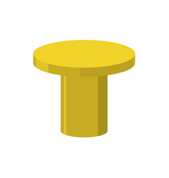Gold pedestal isolated stand for rewarding on vector