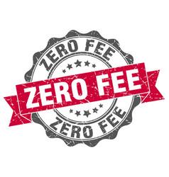Zero fee stamp sign seal vector