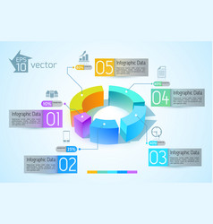 Abstract business diagram infographics vector