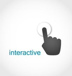 Touch screen icon vector