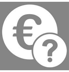 Euro status icon vector