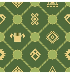 Seamless background with persian ethnic symbols vector