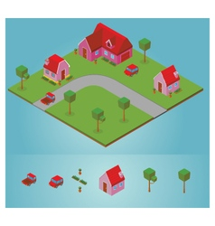Isometric neighborhood vector