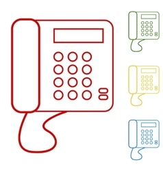 Communication call phone vector