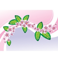 Whimsical pink floral design vector