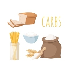 Carbs food vector