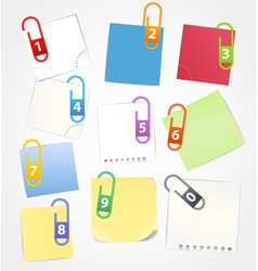 Color paper sheets vector