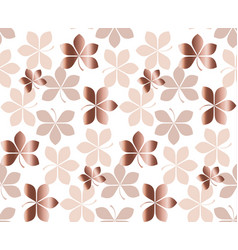 abstract gold fall leaves pattern vector image vector image