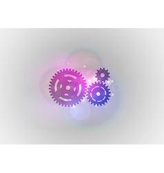 abstract tech cogwheel vector image vector image