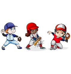 Baseball players vector image vector image
