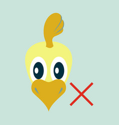 Chicken bird engraving drawn flat vector